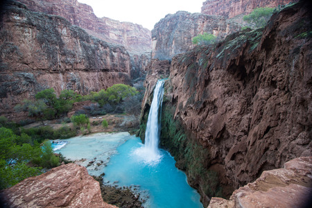 Havasu falls near Supai Arizona Фото со стока