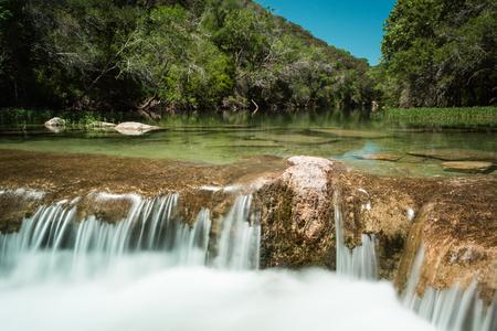 Small cascade on Barton Creek in Austin, Texas