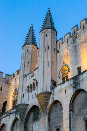 Palais des Papes entrance, Avignon, Provence, France