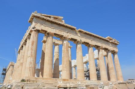 left: Parthenon of Acropolis left angle