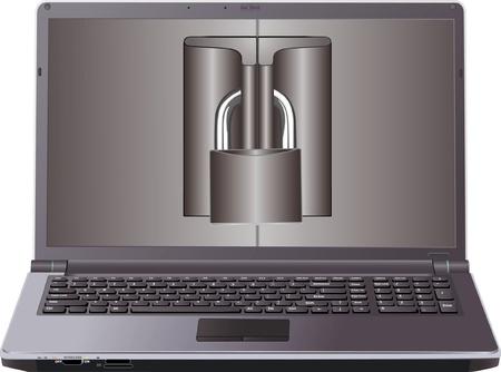 laptop Stock Vector - 10936544