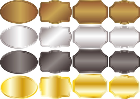 banners metallic backgrounds gold silver Vector