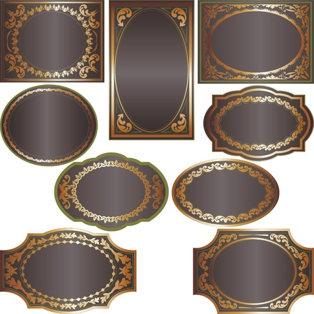 gold border with a dark background Stock Vector - 11004986