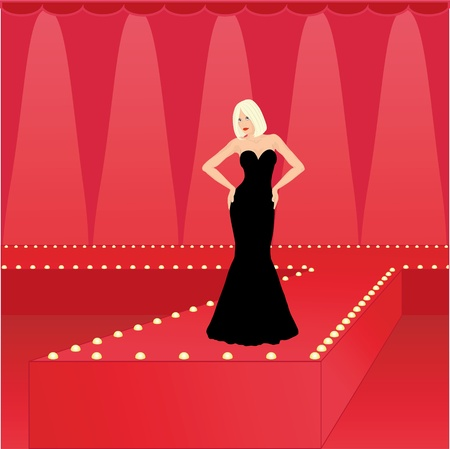 fashion model on the catwalk Stock Vector - 11091678
