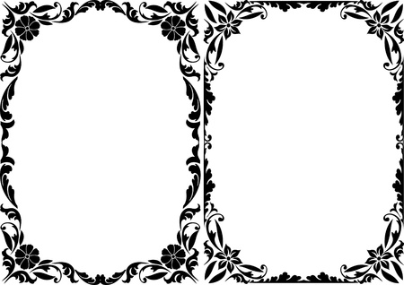 silhouette decorative frames Stock Vector - 11091673