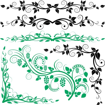 plant decoration and corners Stock Vector - 11137031