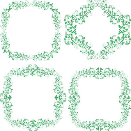 marcos decorados: fronteras decorados y elementos de diseño de los marcos