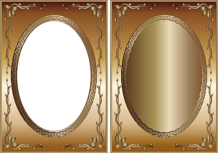 metallic borders with decorations Stock Vector - 11137049