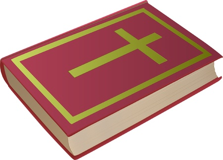 bible with cross on the cover Stock Vector - 11137039