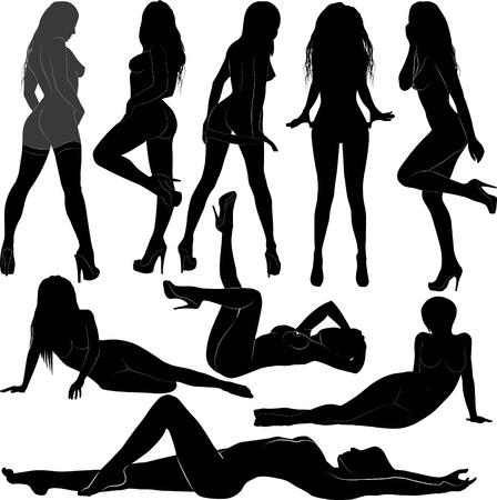 women silhouette Stock Vector - 11184370