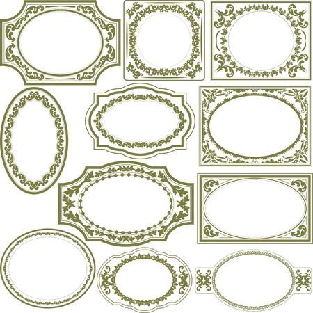 oval frame: decorated borders Illustration