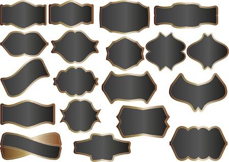black banners Stock Vector - 11276803