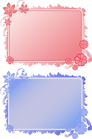 blue and red background decorating plant Vector