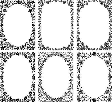 bordures fleurs: usine de fronti�res Illustration