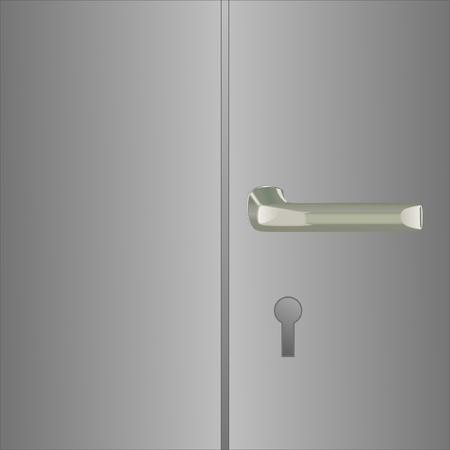 inaccessible: metal door