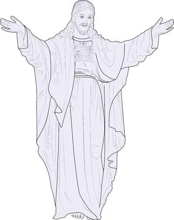 figure of Jesus Chrtstus Stock Vector - 11276828