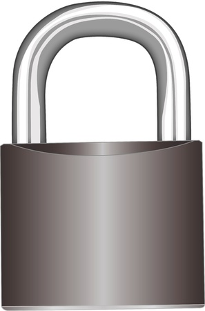 inaccessible: isolated padlock Illustration