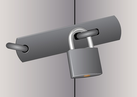 inaccessible:  closed door with padlock