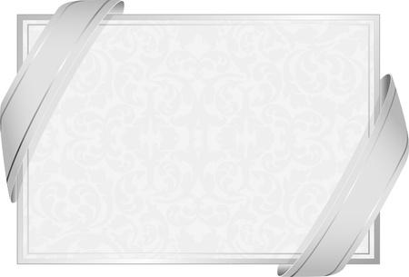 invitaci�n matrimonio: fondo neutro blanco con decoraciones Vectores