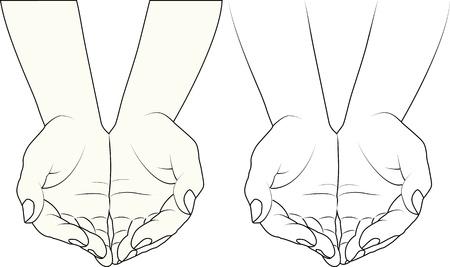 manos limpias: manos Vectores