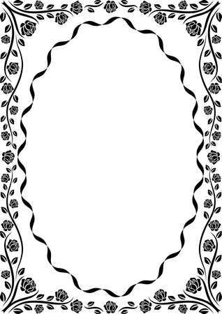 border frame: border rose  Illustration