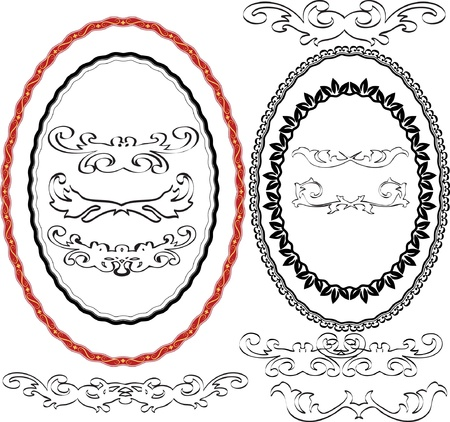 oval border Stock Vector - 11455165