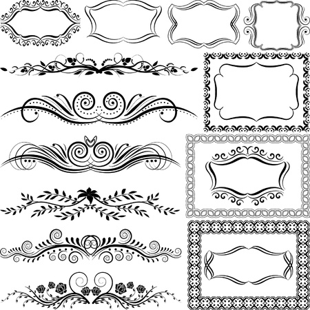 ornaments and borders Vector