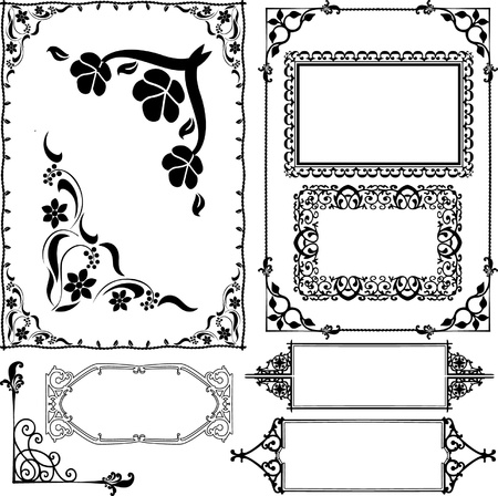 rectangle patterns: borders and frames Illustration