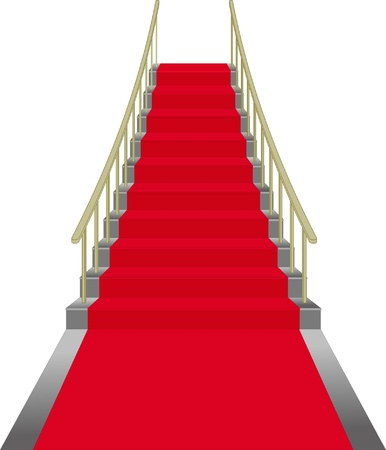 red stairs Ilustracja