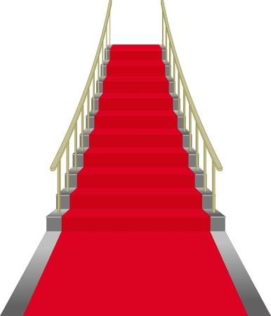 red stairs Zdjęcie Seryjne - 11455167