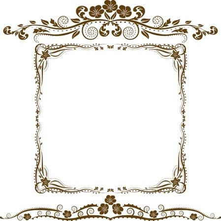ozdobně: dekorativní hranice a ozdoby