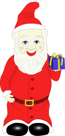 needy: little Santa with  small gift