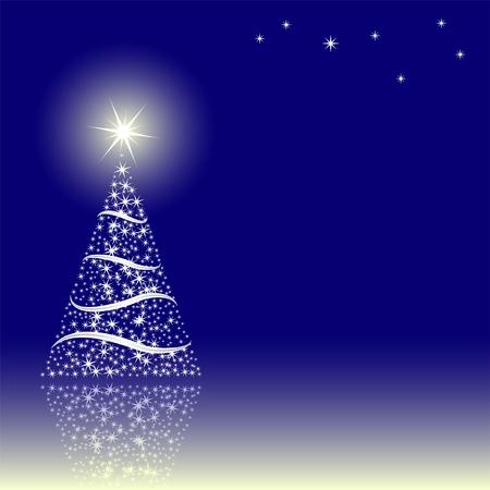 azul marino: fondo azul con el �rbol de Navidad