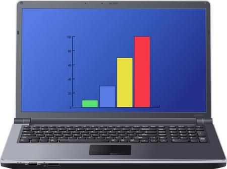 laptop screen: tabla en la pantalla del port�til