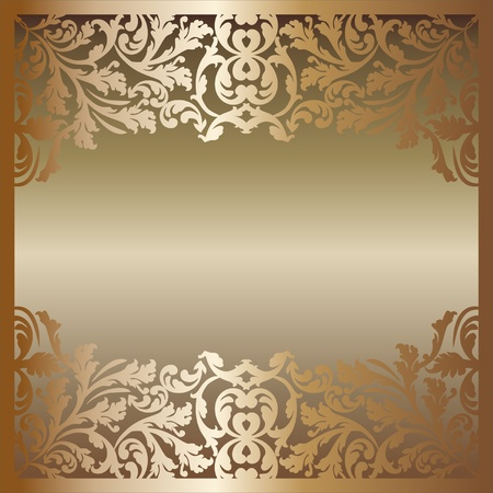 golden border: golden background