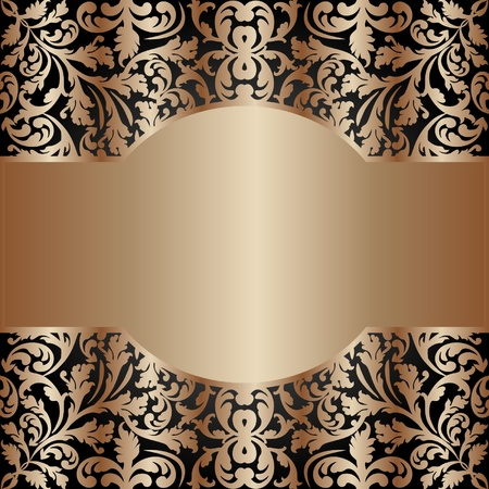 golden vintage background Stock Vector - 11809550