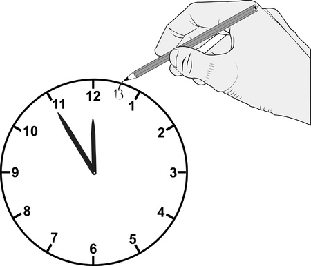 added: added hour on dial clock Illustration