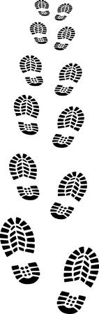 chaussure: empreintes Illustration