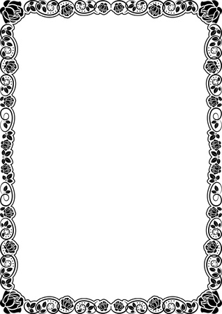 border with roses  Vector