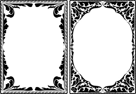 silhouette decorative borders