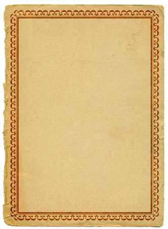 yellowed: old paper with decorative border