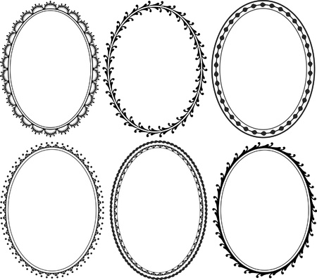 ornate oval borders Vector