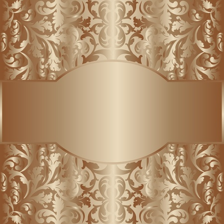 golden  decor background Vector