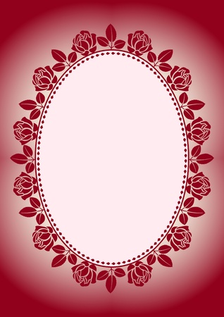 background with frame roses