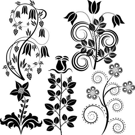 flower clip art: vector flowers