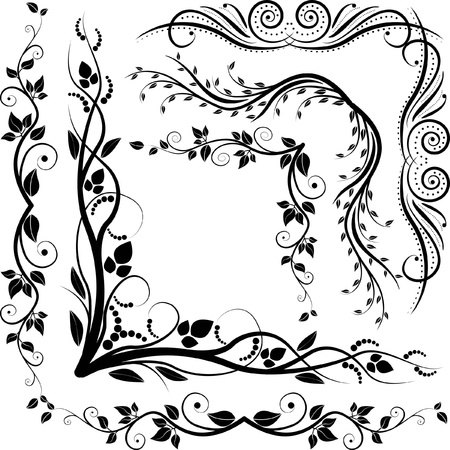 hoekversiering: decoratieve hoeken Stock Illustratie