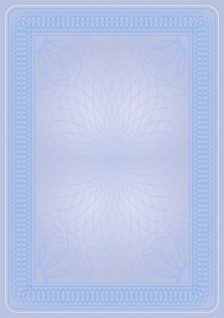 personalize: light blue certificate diploma