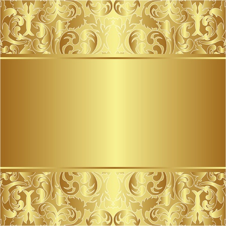 metal texture: golden background with ornaments Illustration