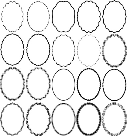 owalne: owalne ramki Ilustracja