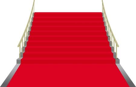 solemn: escaleras cubiertas con alfombra roja